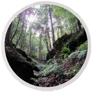 Hemlock Gorge Round Beach Towel