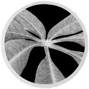 Hemp Tree Leaf Round Beach Towel