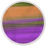 Henbit Abstract - D010049 Round Beach Towel by Daniel Dempster