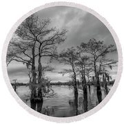 Round Beach Towel featuring the photograph Henderson Swamp Wetplate by Andy Crawford