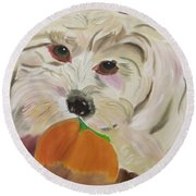 Henry's Love Round Beach Towel by Meryl Goudey