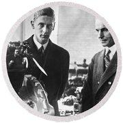 Henry Ford & Prince Nicholas Round Beach Towel