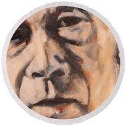 Henry Miller Portrait Round Beach Towel