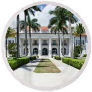 Henry Morrison Flagler Mansion Round Beach Towel