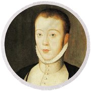 Henry Stewart Lord Darnley Married Mary Queen Of Scots 1565 Round Beach Towel