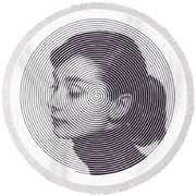 Hepburn Round Beach Towel by Zachary Witt