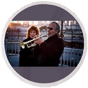 Herb Alpert Round Beach Towel
