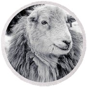 Round Beach Towel featuring the photograph Herdwick Sheep by Keith Elliott