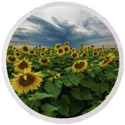 Here Comes The Sun Round Beach Towel