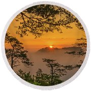 Here Comes The Sun... Round Beach Towel
