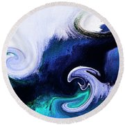 Here Comes Your Karma Round Beach Towel