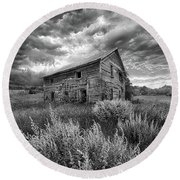 Here There Be Ghosts Round Beach Towel by Phil Koch