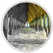 Here's Your Light At The End Of The Tunnel Round Beach Towel