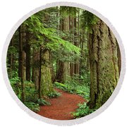 Heritage Forest 2 Round Beach Towel by Randy Hall