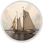 Heritage In Penobscot Bay Round Beach Towel