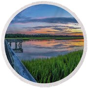 Heritage Shores Nature Preserve Sunrise Round Beach Towel
