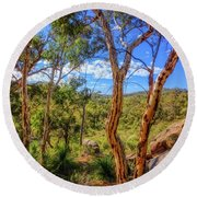 Round Beach Towel featuring the photograph Heritage View, John Forest National Park by Dave Catley