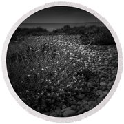 Hernsea Bay And Black Combe Round Beach Towel