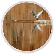 Heron Tapestry Round Beach Towel
