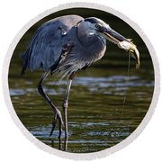 Herons Dinner Round Beach Towel