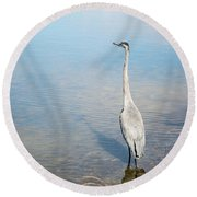 Heron's Watch Round Beach Towel