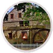 Herr's Grist Mill Round Beach Towel