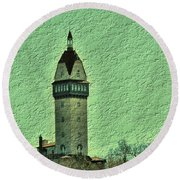 Heublein Tower Round Beach Towel