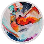 Hey Mr. Spaceman Round Beach Towel by Stephen Anderson