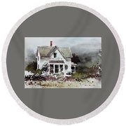 Heyl House, Minneapolis, Kansas Round Beach Towel