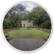 Round Beach Towel featuring the photograph Heyman Garden 03 by Gregory Daley  PPSA