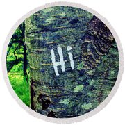 Hi Round Beach Towel