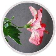 Hibiscus #4 Round Beach Towel