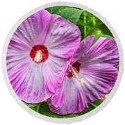 Hibiscus Beauty Round Beach Towel
