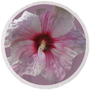 Hibiscus Round Beach Towel by David and Lynn Keller