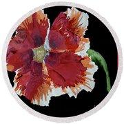 Hibiscus Flower Round Beach Towel