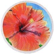 Hibiscus Passion Round Beach Towel