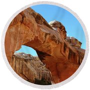 Hickman Bridge Capitol Reef Round Beach Towel