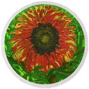 Hidden Beauty Round Beach Towel