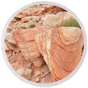 Round Beach Towel featuring the photograph Hidden Cove In Valley Of Fire by Ray Mathis