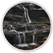 Hidden Falls Round Beach Towel