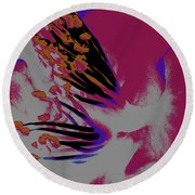 Hidden Flower  Round Beach Towel