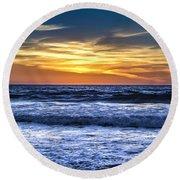 Hidden Sunset Round Beach Towel