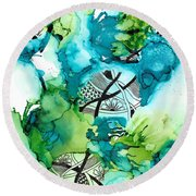 Hidden Treasure Round Beach Towel