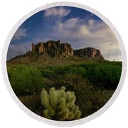 Round Beach Towel featuring the photograph Hidden Treasure by Tassanee Angiolillo