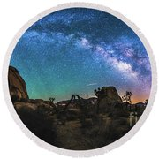 Hidden Valley Milky Way Panorama Round Beach Towel