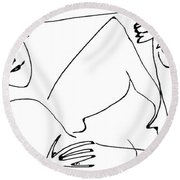Hide And Seek Round Beach Towel