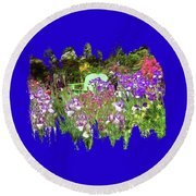 Round Beach Towel featuring the photograph Hiding In The Garden by Thom Zehrfeld