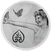 Hiers-baxley Round Beach Towel