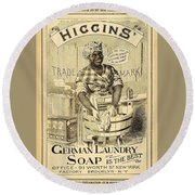 Higgins German Laundry Soap Round Beach Towel