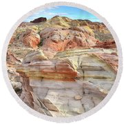 High Above Valley Of Fire Round Beach Towel